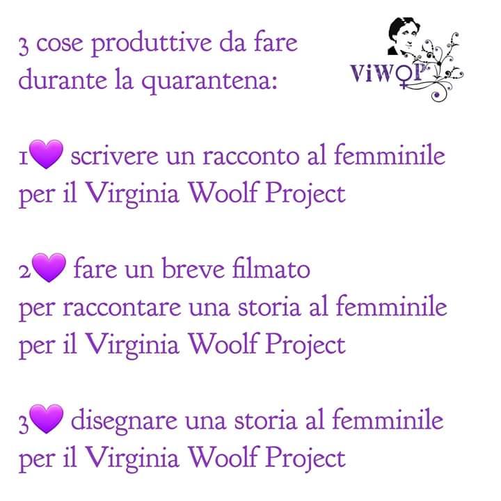 Virginia Woolf Project 3 cose da fare quarantena coronavirus