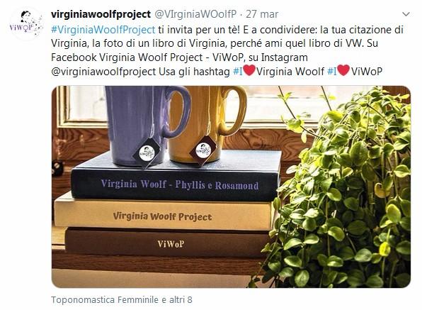 Un tè con Virginia su Twitter Virginia Wolf Project